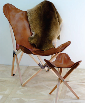 Formentera Folding Leather Designer Chair