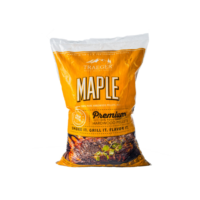 TRAEGER MAPLE WOOD PELLETS 9KG | BBQs NZ | Wood Pellets NZ | Fuels | Outdoor Concepts