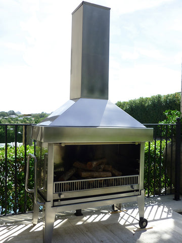 CUSTOM 304 STAINLESS FIREPLACE
