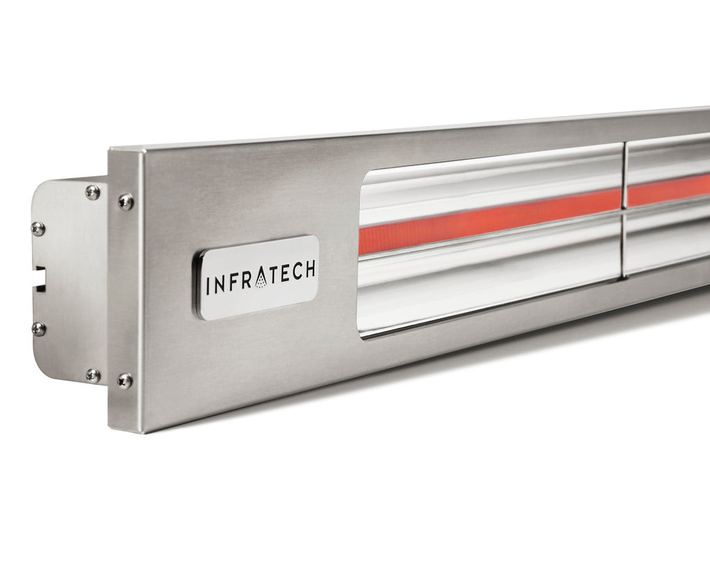 INFRATECH SL24 2.4KW HEATER BRUSHED STAINLESS | Outdoor Heating NZ | Infratech | Outdoor Concepts NZ