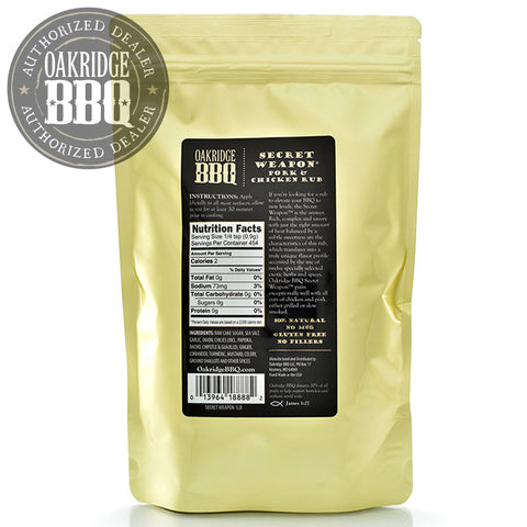 OAKRIDGE BBQ SECRET WEAPON PORK & CHICKEN RUB | BBQs NZ | Rubs & Sauces NZ | Accessories | Outdoor Concepts