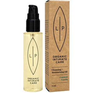 Lip Organic Intimate Oil - Coconut + Vanilla Cleansing and Moisturising Oil