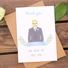 Best Man Or Usher Personalised Card