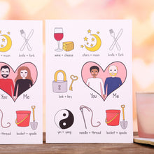 Personalised Better Together Love Card