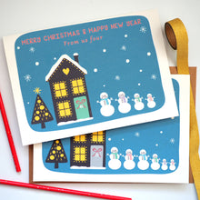 Personalised Snowman Family Christmas Cards