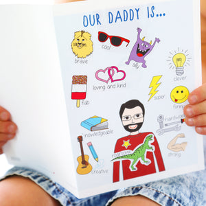 Father's Day Personalised Stickers Card