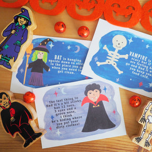 Halloween Indoor Treasure Hunt and Colouring Sheet
