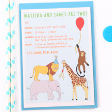 Jungle Personalised Birthday Party Invitations