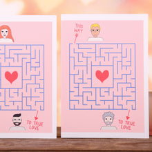 Personalised Love Maze Valentine's Card