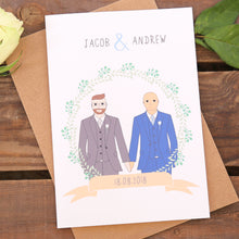 Mr And Mr Gay Wedding Or Civil Partnership Card