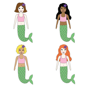 Mermaid Personalised Birthday Card - personalised cards and invitations by superfumi