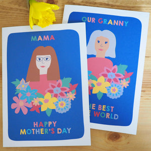 Personalised Mum Woman Birthday Portrait Card