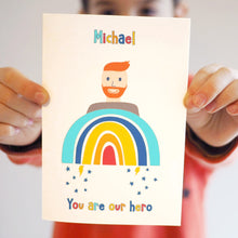 Personalised Rainbow Man Charity Card