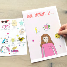 Mother's Day Personalised Activity Card with Stickers