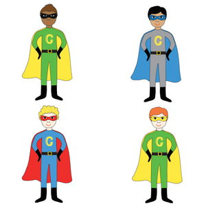 Superhero Personalised Boy Thank You Note Cards - personalised cards and invitations by superfumi
