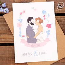 Personalised Wedding Day Portrait Card