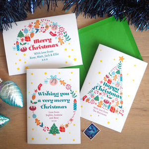 Personalised Christmas Tree Charity Card