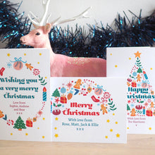Personalised Christmas Rainbow Charity Card