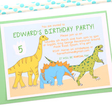 Dinosaur Personalised Birthday Party Inviations
