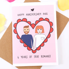 Personalised Anniversary Love Card