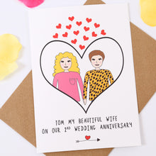 Personalised Anniversary Couple Card