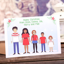 Personalised Family Christmas Card or Pack