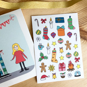 Personalised Child Christmas Card With Stickers