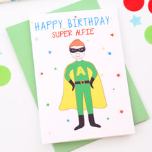 Superhero Personalised Child Birthday Card