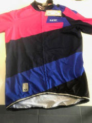 Maillot extreme 2 rose fluo/bleu Large