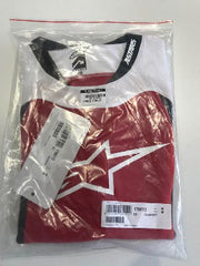 Long Sleeve Jersey Drop Red / White XL