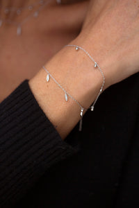 RIO – Sterling Silver Rio Bracelet with crystal set Marquise Shape Charms