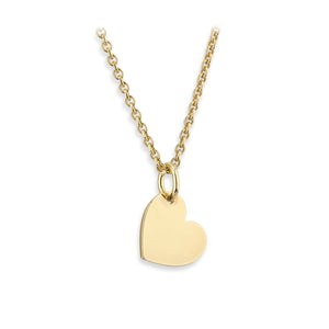 Sterling Silver Yellow Heart Pendant | G by Glenda Gilson