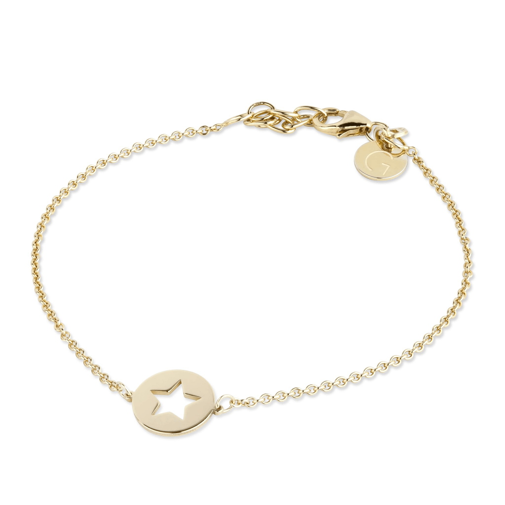 Sterling Silver Yellow Star Bracelet | G by Glenda Gilson