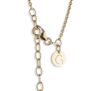 NEW YORK– Sterling Silver 18ct Yellow Gold New York Necklace with Moon Shape Charms