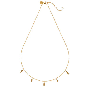 "BERLIN– Sterling Silver 18ct Yellow Gold ""Berlin"" Necklace with Marquise Shape Charms"