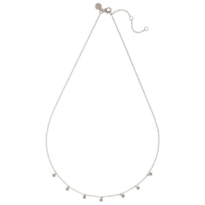 LONDON – Sterling Silver London Necklace with Silver Ball Drop Charms