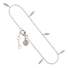 "RIO – Sterling Silver ""Rio"" Bracelet with crystal set Marquise Shape Charms"