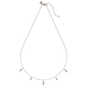 RIO – Sterling Silver Rio Necklace with crystal set Marquise Shape Charms