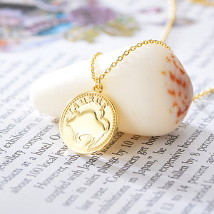Taurus - Sterling Silver 18ct Yellow Gold Taurus Star Sign Coin Necklet /Pendant | G by Glenda Gilson