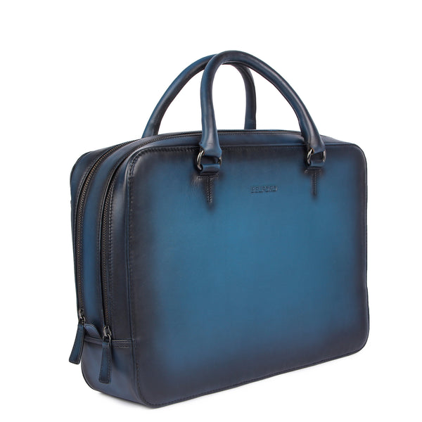 Genuine Vegetable Tanned Leather Briefcase  for Everyday Use Office Essential
