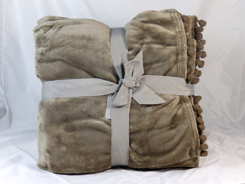 Cashmere touch fleece throw - Brown