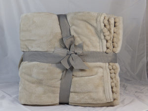 Cashmere touch fleece throw - Beige
