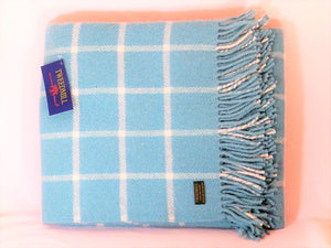 Tweedmill throw - Chequered Check Spearmint