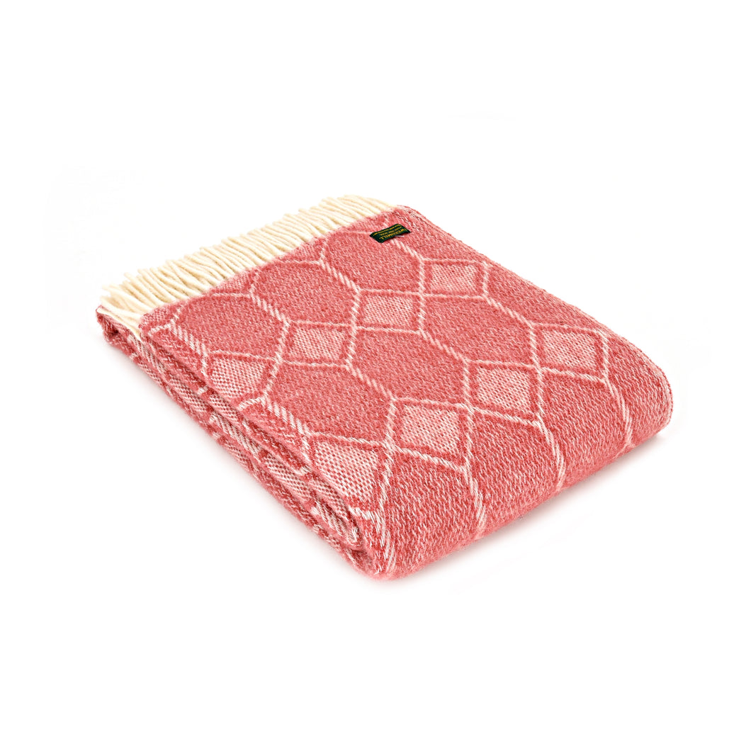 Tweedmill throw - Churchpane Cranberry