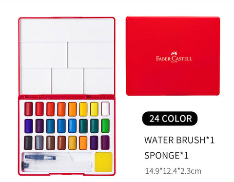 Faber-Castell 24/36/48 Color Solid Watercolor Paint Set