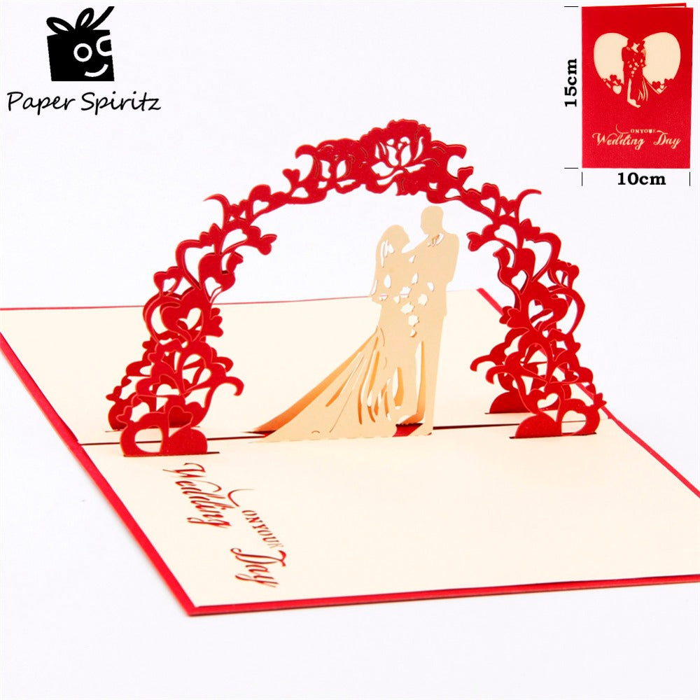 3D Handmade Pop-up Wedding Invitations and Greeting Cards – ArtsN ...