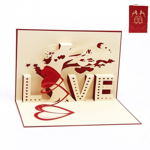 3D Handmade Pop-up Wedding Invitations and Greeting Cards