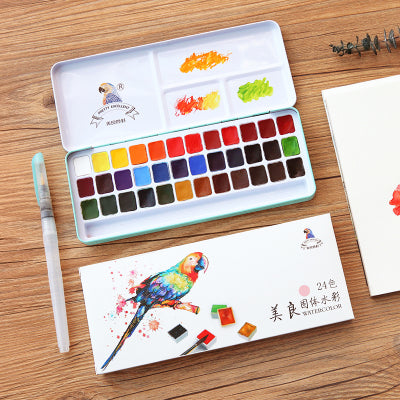 24/36 Colors Water Color Travel Set