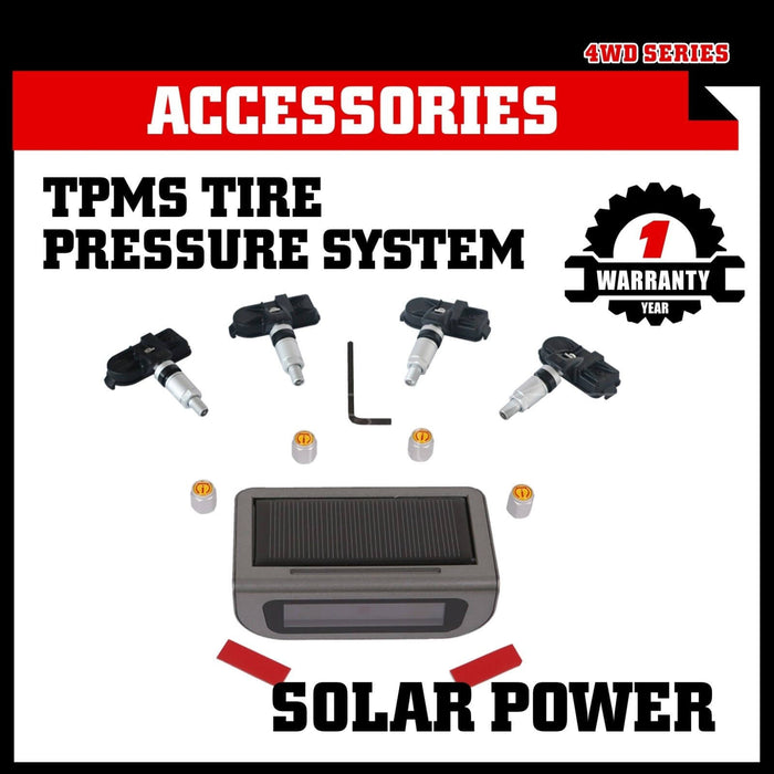 Solar Wireless TPMS Tyre Tire Pressure Monitor System+4 Internal Sensors