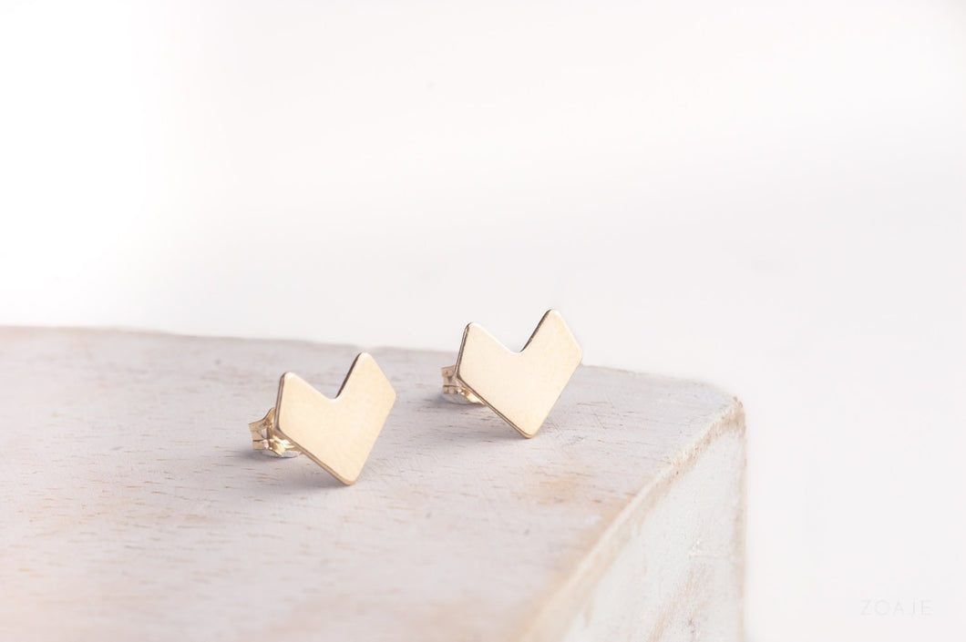 ZOAJE | Venezuela Stud Earrings (Gold)